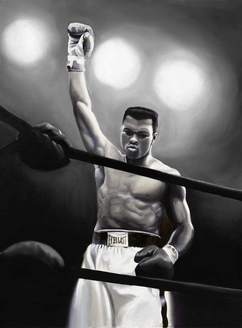 Tim Hinton Studio Muhammad Ali Art